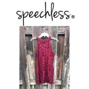Speechless Lace minidress
